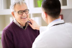 doctor incourages patient